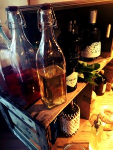 spirits and home made syrups